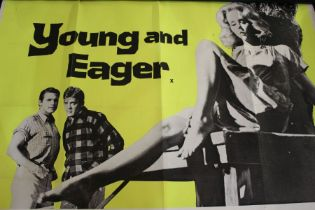 Young and Eager (1961), British quad film poster, starring Diane McBain and Arthur Kennedy,
