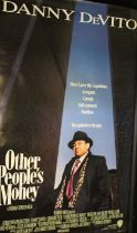 Other People's Money (1991) - British one sheet film poster, starring Danny DeVito, rolled, 69cm x