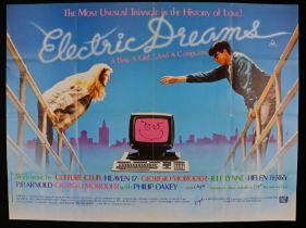 Electric Dreams (1984), British Quad poster, starring Lenny Von Dohlen, Virginia Madsen, Maxwell