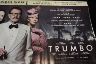 Trumbo (2015) - British Quad film poster, starring Bryan Cranston, rolled, 76cm x 102cm