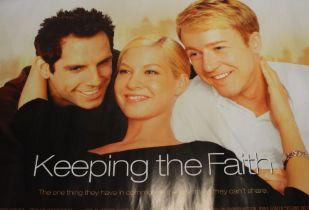 Keeping the Faith (2000) - British Quad film poster, starring Ben Stiller, rolled, 76cm x 102cm