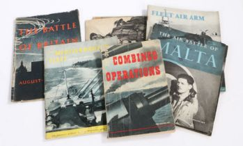 Second World War publications by His Majesty's Stationary Office including, 'The Mediterranean