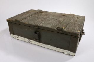 Russian/Warsaw Pact F1 Grenade crate, wooden construction with compartmentalised interior, note to