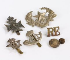 British army badges to the Buckinghamshire Battalion, Durham Light Infantry, 5th Dragoon Guards,