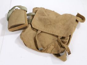 British 1937 Pattern large pack, marked 'J&AM 1942' with broad arrow to interior, together with a