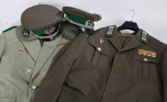 Cold War DDR (German Democratic Republic) Grenzetruppen (Border Troops) Medical Officers uniforms,