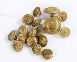 Selection of Kings crown Royal Navy buttons in gilt, (qty)