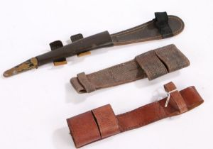 Second World War British 1939 Pattern Home Guard leather bayonet frog, stamped with maker B.H. & G