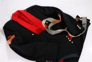 Post Second World War Royal Artillery NCO's Mess Dress uniform, jacket, trousers and vest, Queens