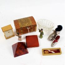 Works of art to include Queen Elizabeth II coronation box and cover, two shoe form pin cushions,