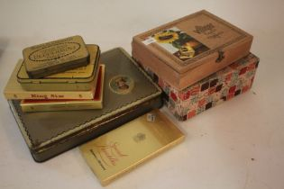 Collection of cigarette cards and tins (7)