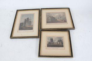 "Three Suffolk coloured prints, ""Orford Castle"", ""Blythburgh Church"", ""Walberswick Church,"