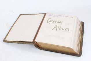 19th Century Carte De Visite Excelsior album, green leather bounded (no contents)