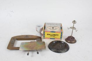 Works of art to include help the lifeboats brass dish, hatpin stand, ebony glove stretchers, Acme