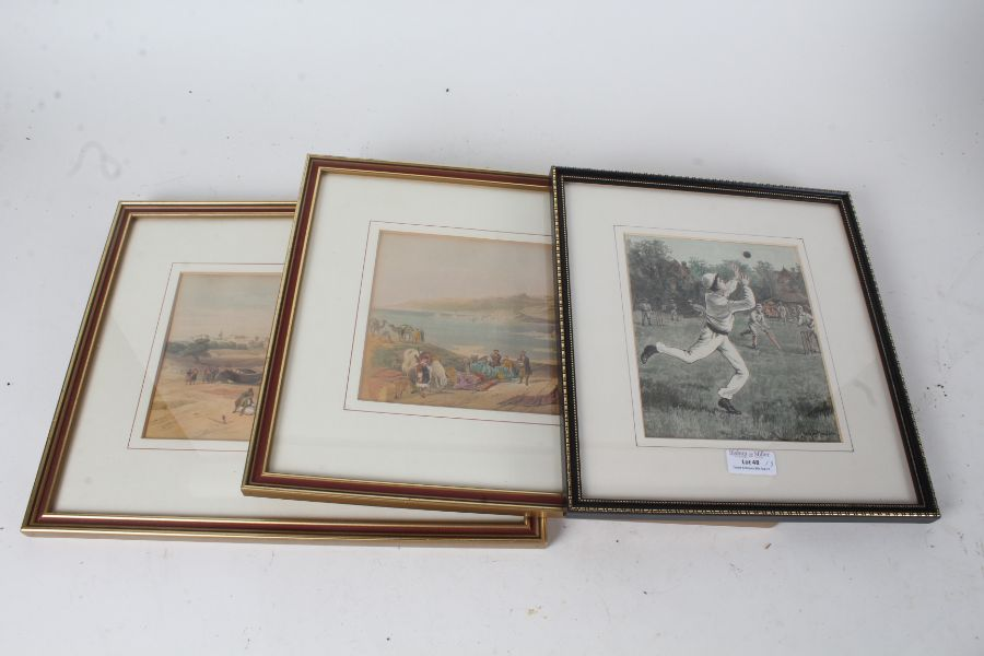 """Two Coloured lithographs after David Roberts from his """"Views of the Holy Land and Egypt"""", """"SIdon"""""""
