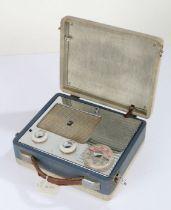 Mid 20th century Pye radio, having hinged lid enclosing a chrome radio, 24cm wide