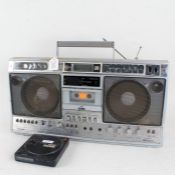 Toshiba digital synthesizer stereo cassette recorder, together with a Sony Discman (2)
