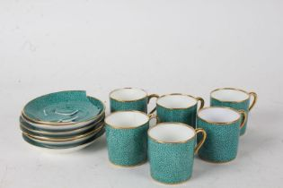 T. Goode & Co London part coffee set, compromising of six cups and six saucers, one AF (12)