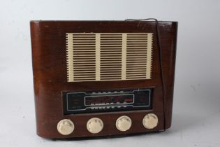 Mid 20th century Strad radio, housed within a walnut case, 42.5cm wide