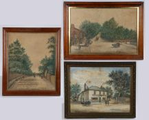 A set of three late 19th Century primitive watercolours, by Sydney Barton, the first with the wine