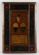 Gothic revival binding, the polychrome painted binding dated 1311 with a Medieval design of