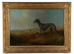 Follower of Samuel Spode, (active 1825-1858) British 19th Century school, Hare Coursing, a grey