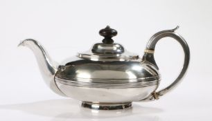 George IV silver teapot, York 1829, maker James Barber, George Cattle II & William North, the