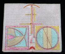 """Tobias Conrad Lotter, coloured engraving, """"Novissimum Astronomiae Geographiae..."""", dated 1749,"""