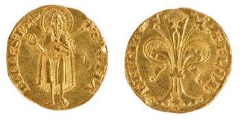 Republic of Florence, 14th Century, Firenze Republica Fiorino, D'oro Stretto, 1252-1472 (1334)