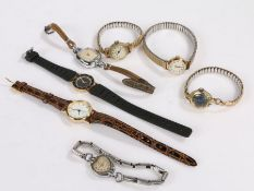 Ladies wristwatches, to include Oris, Timex, Sindaco, Philip Mercier, Sekonda, Accurist, Puerta (7)
