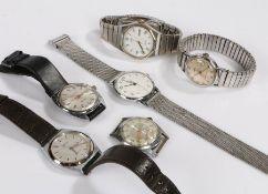 Gentlemen's wristwatches, to include Sekonda, Everite Automatic, Seiko Quartz, Altitude, Timex, Zeon