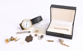 Collection of jewellery to include two watches, two tie pins ect (Qty)