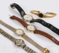 Five ladies quartz wristwatches, to include examples by Accurist and Pierre Nicol (5)