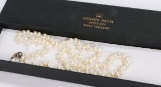 Simulated Pearl necklace with silver clasp
