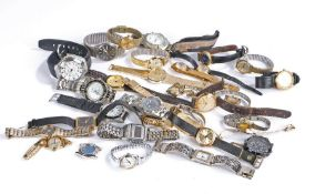 Gentlemen's and ladies wristwatches, to include Lorus, Westclox, Seiko, Montine etc. (qty)