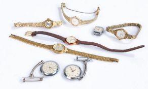 Ladies wristwatches, to include Sekonda, Montine, Pulsar, Seiko, Ivy, two Sekonda pendant watches (