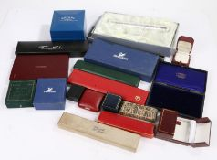 Collection of jewellery boxes some named to include ring boxes and various others together with a