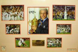 Jonny Wilkinson, signed montage, commemorating the 2003 Rugby World Cup victory, numbered 319/500,