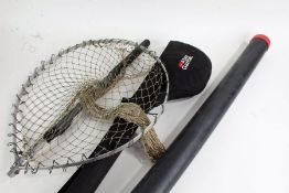 Abu Garcia Diplomat 9' fly fising rod, with carrying case, together with a fishing net and hard