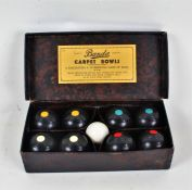 Banda carpet bowls, housed in original box