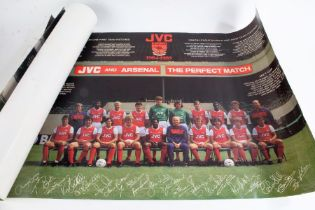 Four Arsenal Football Club team posters, for the 1984/85, 87/88, 88/89 and 89/90 seasons, 76cm x