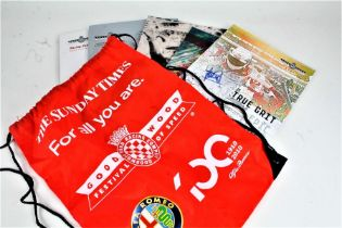 Formula one and Goodwood Festival of Speed ephemera, to include programmes, passes, models etc. (