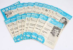 1960's Stockport County, a collection of programmes from the 1968-69 season and the 1966-67 Fourth