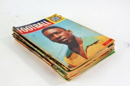 Eight editions of Charles Buchans Football Monthly magazine, all dating from the 1960's, together