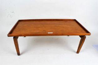 Edwardian folding lap tray, 61.5cm wide, 35cm deep