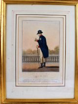 19th century print, entitled 'George The Third, published May 1810 by Colnaghi & Co., housed in a