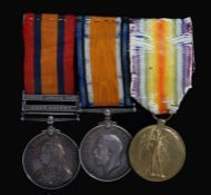 Boer War/First World War group of medals, Queens South Africa Medal with clasps 'Cape Colony' and '