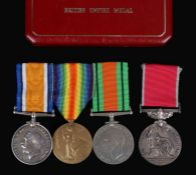 First and Second World War Group of Medals, 1914-1918 British War Medal, Victory Medal (138171