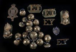 First World War cap badge to the Essex Yeomanry (worn 1909-1916) , slider to the reverse, K&K 1492,