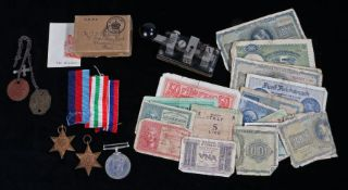 Second World War Grouping to a Royal Marine, 1939-1945 Star, Italy Star, 1939-1945 British War
